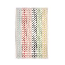 Orla Kiely 100% Cotton Linear Stem Multi Stripe Bath Sheet