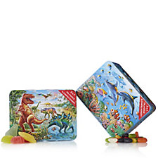 805782 - Churchill's Set of 2 Sea Life & Dinosaur Tins with Jigsaw & Sweets