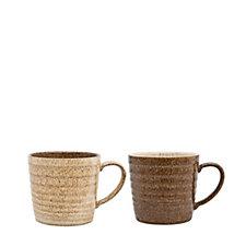 Denby Studio Craft Set of 2 Alt Ridged Mugs