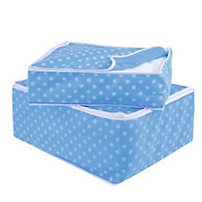 Set of 2 Polka Dot Storage Totes