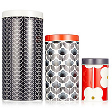 Orla Kiely 3 Piece Assorted Cannister Set