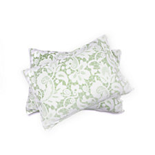 805185 - Cozee Home Lace Print Fleece 4 Piece Duvet Set