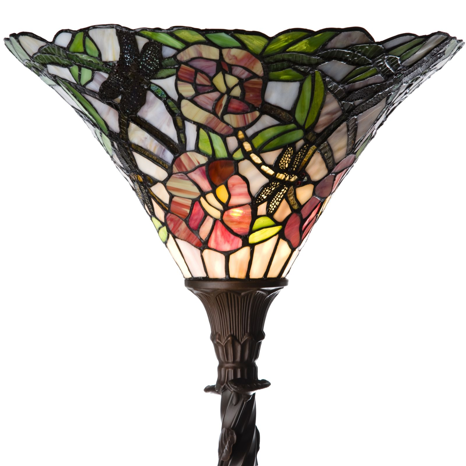 Tiffany Style Handcrafted Floral Jungle Floor Lamp   QVC UK