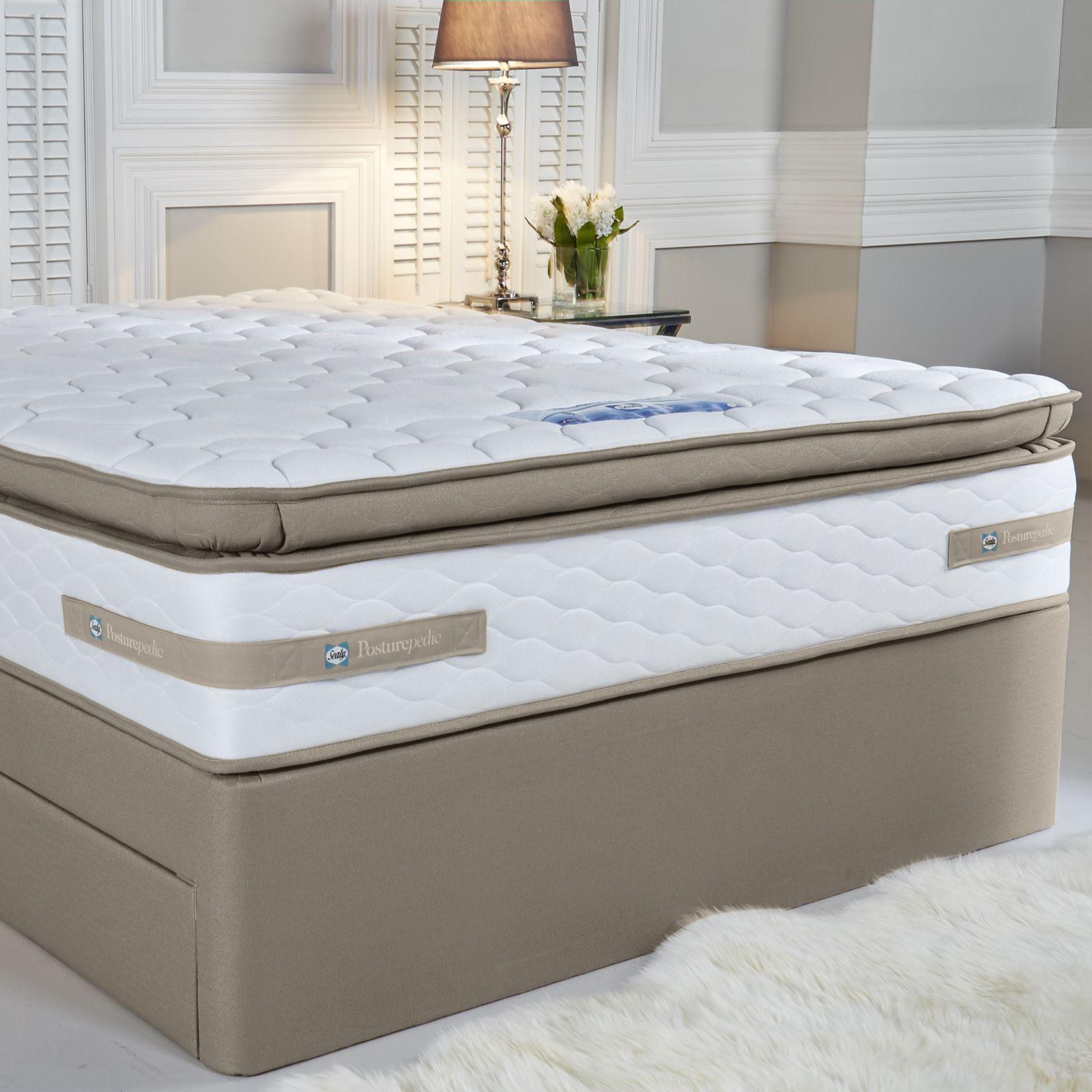 sealy 660 spring geltex pillow top mattress page 1 qvc uk - Sealy Mattress