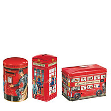 Churchill's Confectionery 3 Piece Classic Souvenirs Biscuit Tins Selection