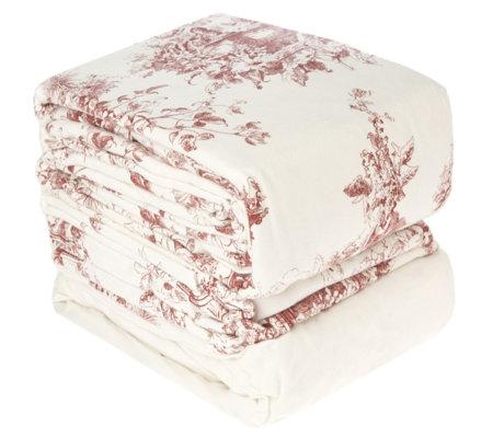 northern nights 6 piece flannel regal toile duvet set. Black Bedroom Furniture Sets. Home Design Ideas