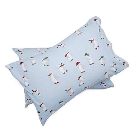 Northern Nights Heavyweight Festive Reversible Flannel 4pc