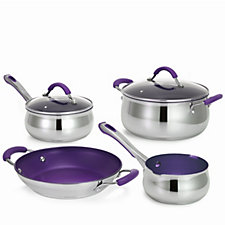 804888 - Cook's Essentials Colour Smart 4 Piece Stainless Steel Pan Set