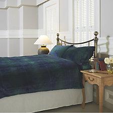 Cozee Home Tartan Angel Plush 4 Piece Duvet Set