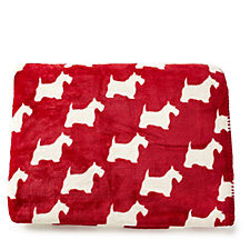 Cozee Home Monty the Dog Plush Throw