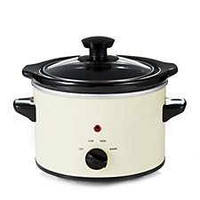 Cook's Essentials 1.4L Slow Cooker with Coloured Ceramic Pot