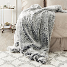Kelly Hoppen Frosted Fox Faux Fur Throw