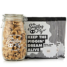 The Snaffling Pig Great Taste Award Winner Pork Scratchings Gift Jar & Refill