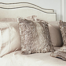 Kelly Hoppen Home Design Frosted Fox Faux Fur Cushion