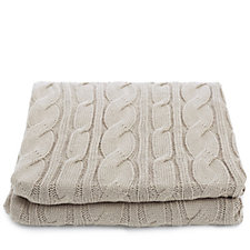 Kelly Hoppen Chunky Cable Knit Throw