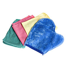 H2O Set of 4 Multi Coloured Microfibre Cloths