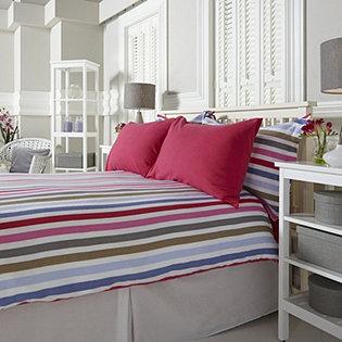 northern nights flannel candy stripe 6pc duvet set. Black Bedroom Furniture Sets. Home Design Ideas