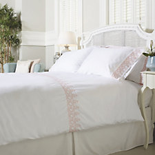 Northern Nights 500TC Sateen Scroll Embroidered 6 Piece Duvet Set