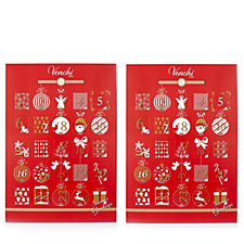 Venchi 1878 Italian Set of 2 Advent Calendars with Chocolates