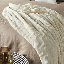804396 - Kelly Hoppen Wave Textured Faux Fur Throw