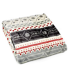 Cozee Home Nordic Print Plush Throw