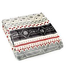 804397 - Cozee Home Nordic Print Plush Throw