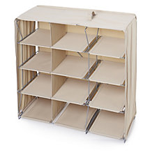 Origami Shoe and Accessory Foldable Unit w/12 Compartments