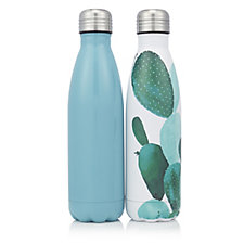 807098 - Set of 2 500ml Stainless Steel Water Bottles