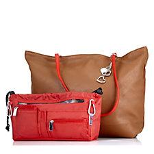 Handbag 2 Handbag Reversible Tote Bag with Handbag 2 Handbag Organiser