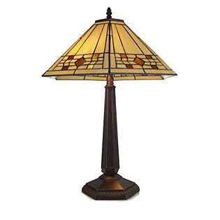 Tiffany Style Handcrafted Mission Table Lamp