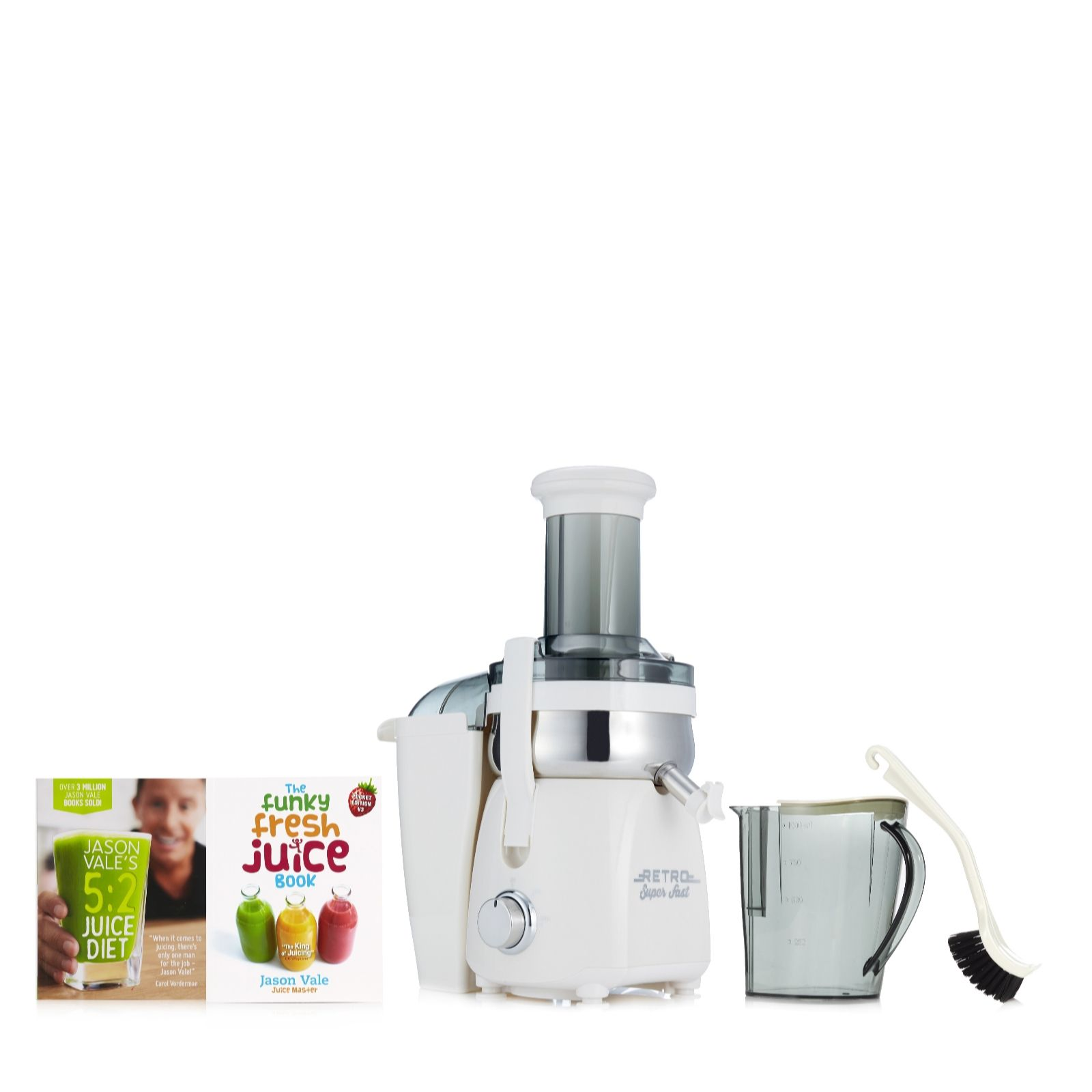 Kitchen small appliances uk - Jason Vale Retro Fast Juicer With 5 2 Juice Diet The Funky Fresh Juice