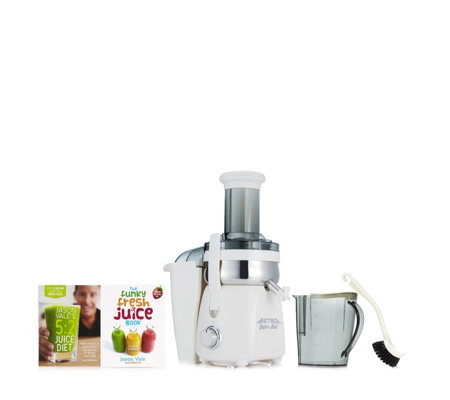 Jason Vale Slow Juicer Review : Jason vale Retro Fast Juicer with 5:2 Juice Diet & The Funky Fresh Juice Books QvCUK.com