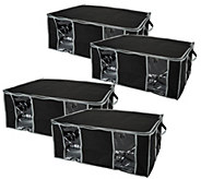 SuperPack Set of 4 Jumbo Stackable Vacuum Seal Storage Totes - V33200