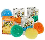 Scrub Daddy Set of 8 Multi-color Scratch Free Sponges - V32802