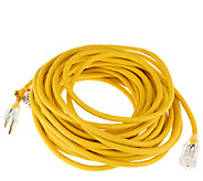 Heavy Duty 50 Foot Outdoor Extension Cord w/LightedOutlet - V33202