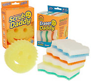 Scrub Daddy 10 Piece Set w/ 8 Eraser Daddy & 2 Scrub Daddy Multi Sponges - V34002