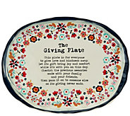 Natural Life Ceramic Giving Plate - V33703