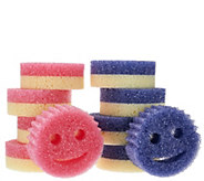 Scrub Mommy (8) Dual-Sided Scratch Free Sponge Set w/ (2) Scrub Daddy - V33803