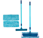Don Asletts Rubber Broom & Microfiber Mop Set with 3 Cleaning Pads - V35203