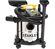 Stanley Stainless Steel 5 Gal. Wet/Dry Vac and Wheels - V34704