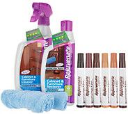 Rejuvenate Cabinet Cleaner & Restorer Kit w/ Wood Repair Color Markers - V35504