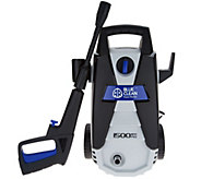 Blue Clean 1500 PSI Pressure Washer with Foam Cannon - V35406