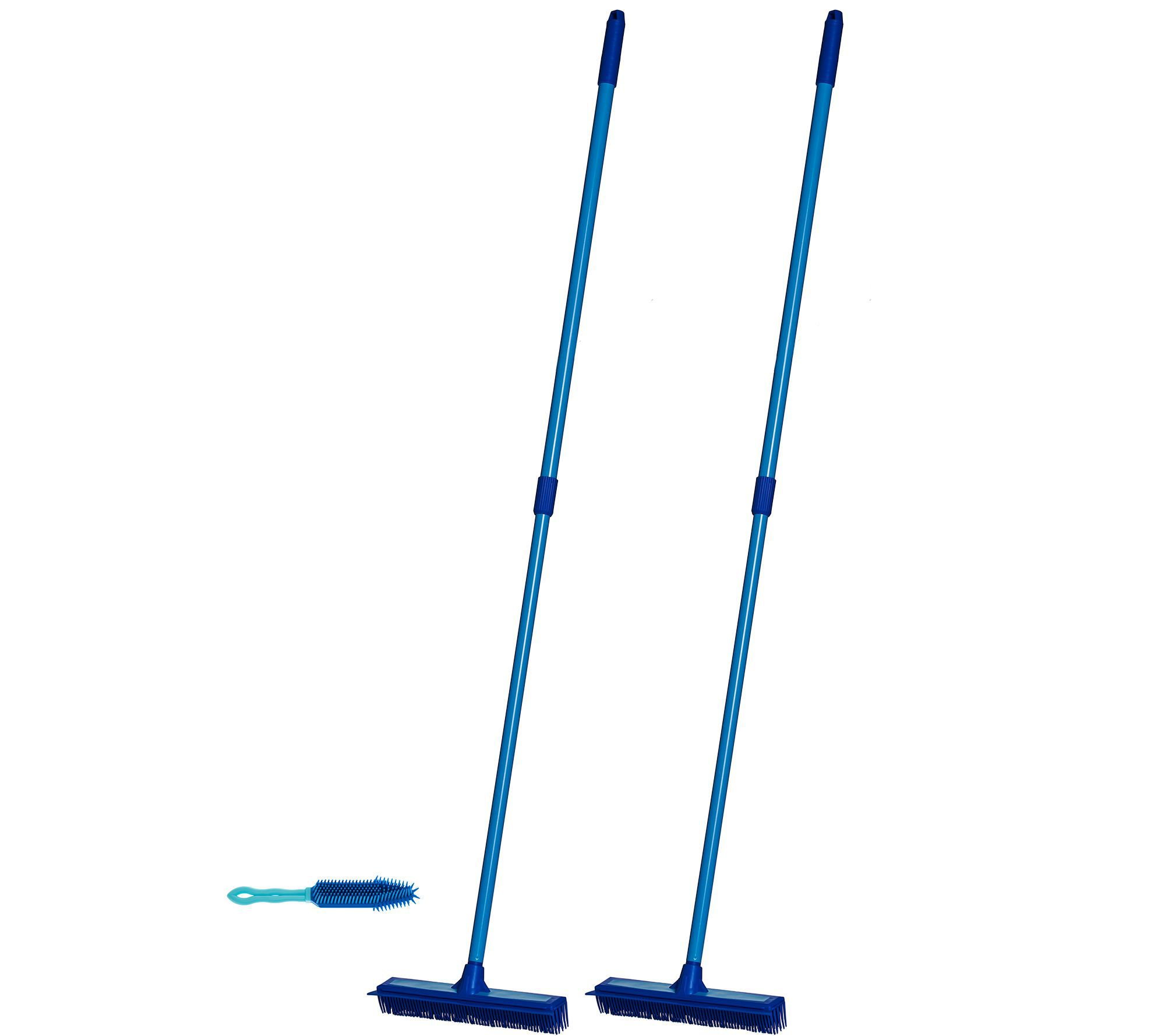 Don Aslett S Set Of 3 Multi Purpose Rubber Brooms With