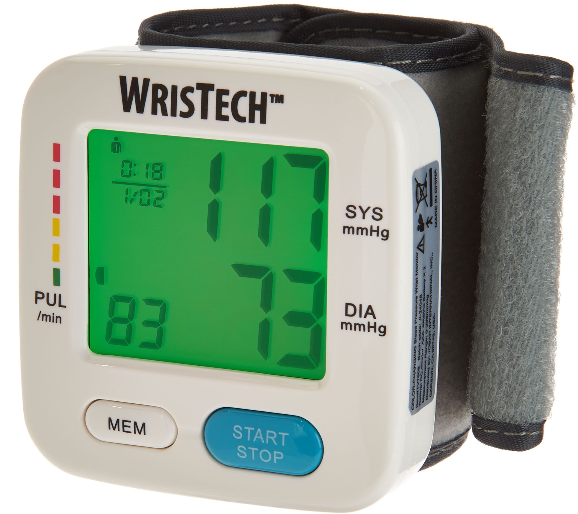 Color changing blood pressure wrist monitor page 1 qvc nvjuhfo Images