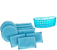 Set of 10 Microfiber Sponge Set w/ Sponge Holder by Campanelli - V34807