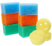 Scrub Daddy Set (6) Colored Jumbo Blocks With (3) Bonus Yellow Sponges - V33308