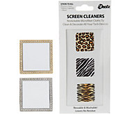 S/2 Restickable Cell Phone Mirrors w/ Screen Cleaners - V34508