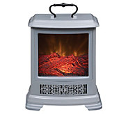 Duraflame Portable Stove Heater with Handle & Side Viewing - V35008