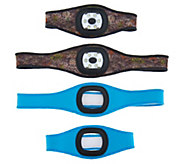 Stanley Set of Two Rechargeable Headband Lights with Armbands - V35108