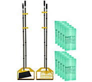S/2 BagPan Indoor/Outdoor Cleanup Tool w/ Broom & Rake Combo Kit - V34109